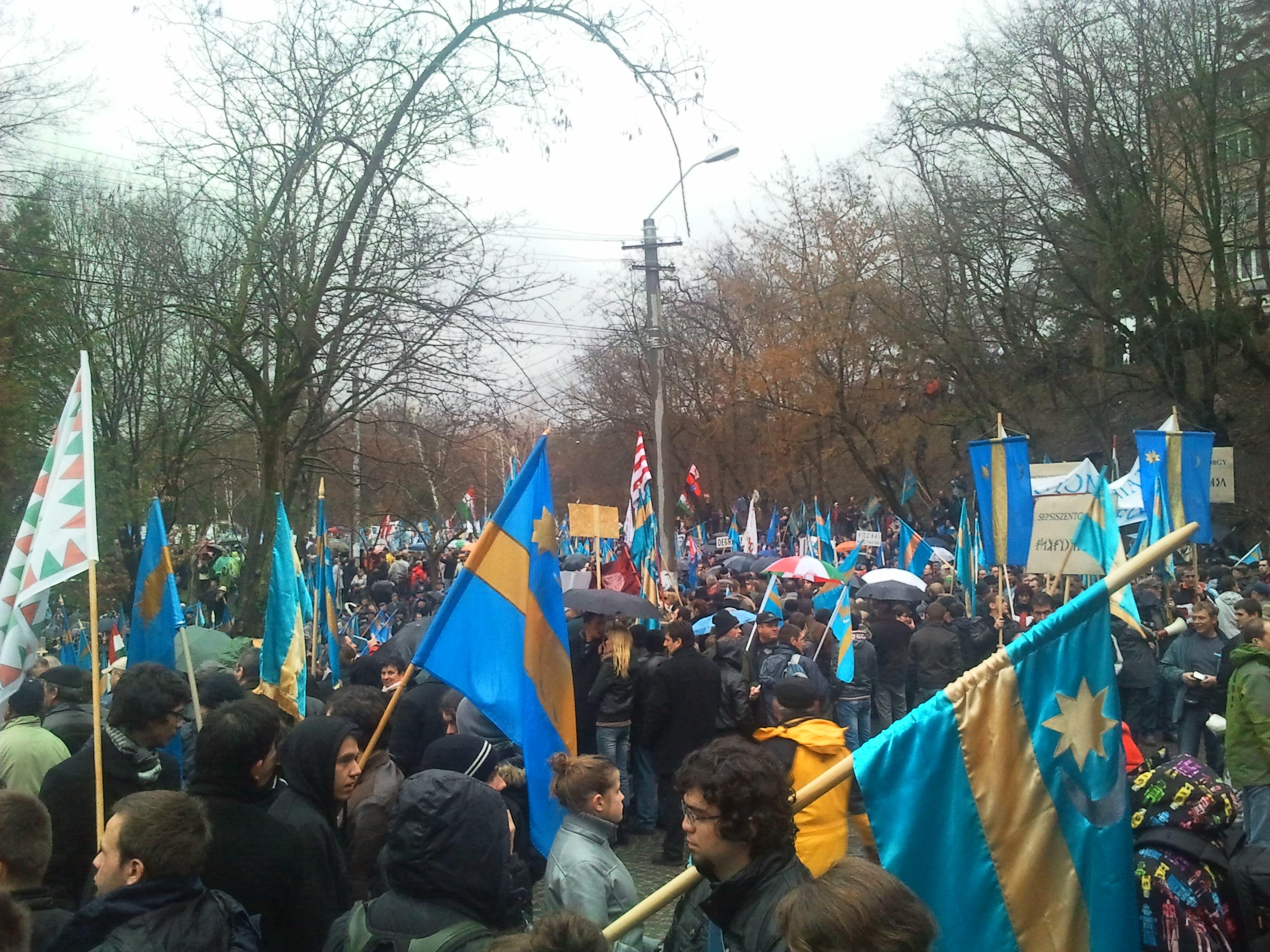 Autonómia tüntetés
