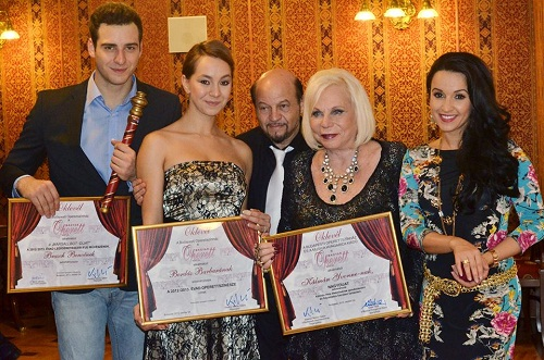 A díjazottak - Brasch Bence, Bordás Barbara, Kero, Kálmán Yvonne, Dancs Annamari
