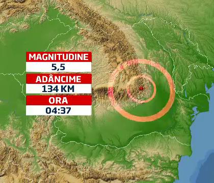 A Richter-skála szerinti 5,5-ös földrengés Romániában
