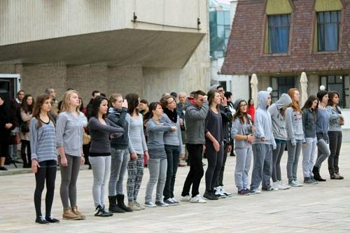 Papius és bolyais középiskolások táncoltak.