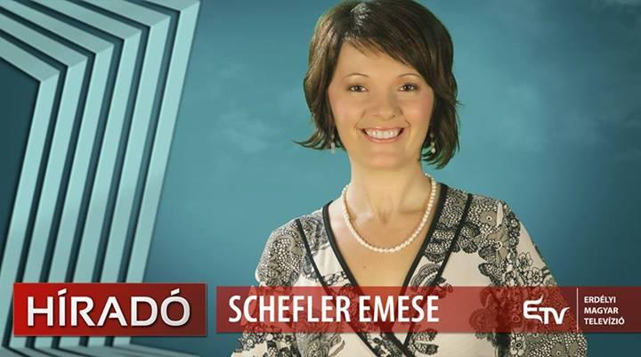 Schefler Emese az Erdély Tv új hírolvasója