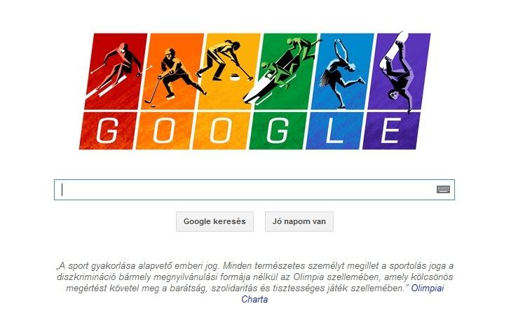 Az olimpiát köszönti a Google doodle
