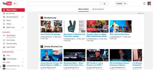 Megújul a YouTube