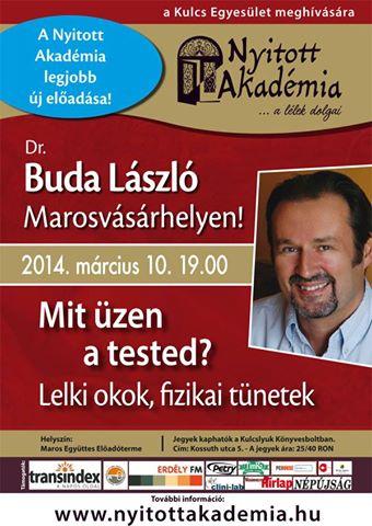 Nyerj jegyet Dr. Buda László előadására