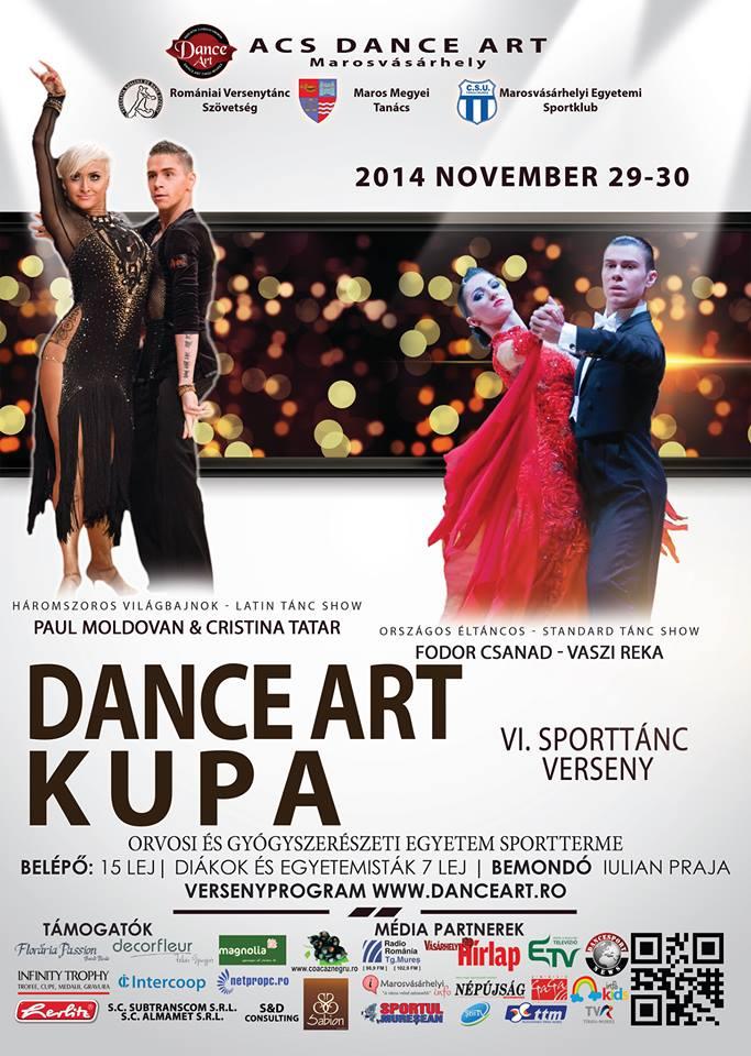 Hétvégén rendezik a VI. Dance Art sporttánc kupát Marosvásárhelyen