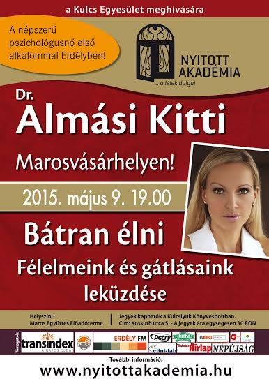Dr. Almási Kitti első alkalommal a marosvásárhelyi Nyitott Akadémián!