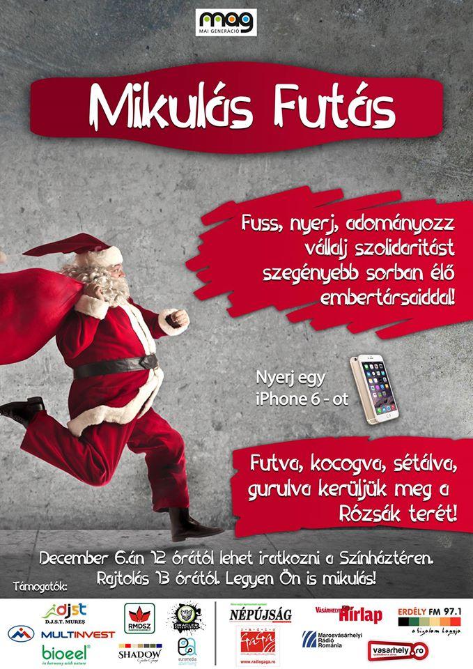 December 6-án kerül sor a Mikulás futásra!