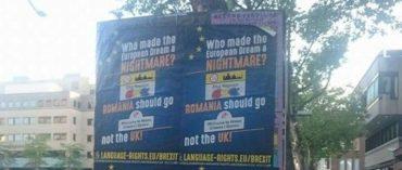 """Románellenes plakát Hollandiában: """"Romániának kellene elhagynia az EU-t, nem Nagy-Britanniának!"""""""
