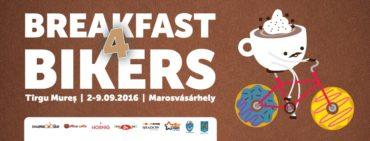 Breakfast for bikers, azaz biciklis reggeli Marosvásárhelyen