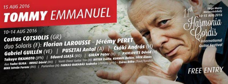 Tommy Emanuel lesz a díszmeghívottja a 11. Harmonia Cordis Nemzetközi Gitárfesztiválnak