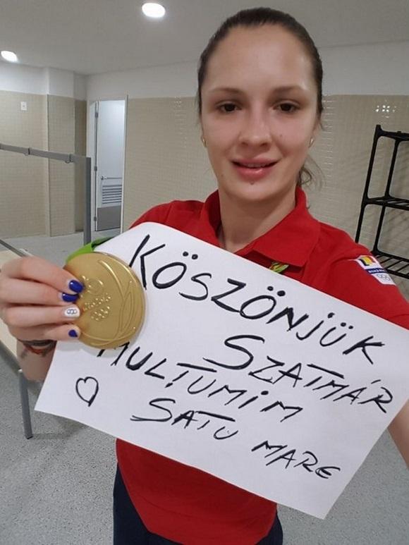 Magyarul is megköszönte a szurkolást a román sportoló