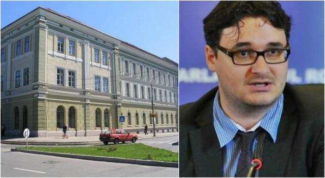 Ismét nem fér a bőrébe a román blogger, ezúttal a Székely Mikó Kollégium magyar nevének felirata zavarja