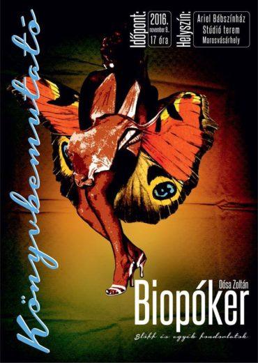 November 9-én mutatják be Dósa Zoltán Biopóker. Blöff és egyéb fondorlatok című könyvét Marosvásárhelyen