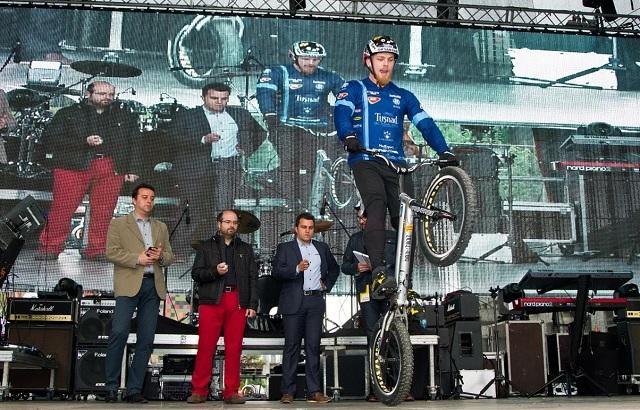 Guiness-rekorder lett a sepsiszentgyörgyi kerékpáros