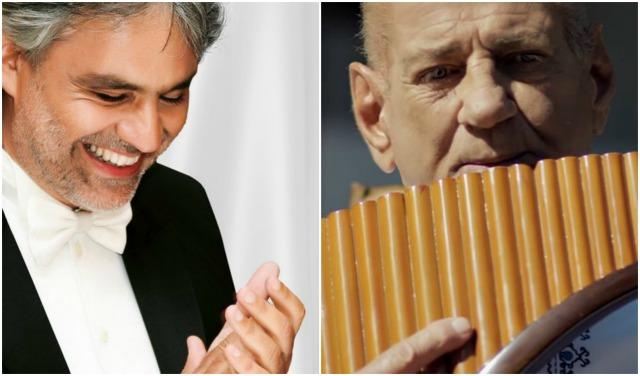 Kolozsváron és Bukarestben duettezik Andrea Bocelli tenor és Gheorghe Zamfir pánsípművész