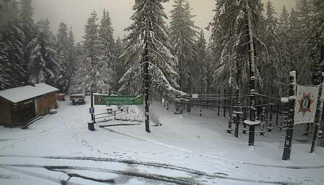 A Gyilkos-tónál havazott, Hargitafürdőn havas eső hullott szerda reggel