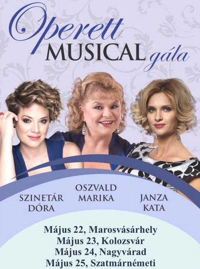 Marosvásárhelyen koncertezik Szinetár Dóra, Oszvald Marika és Janza Kata