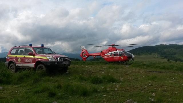 Helikopterrel hozták Marosvásárhelyre a pásztort, akit vipera mart meg a hegyekben