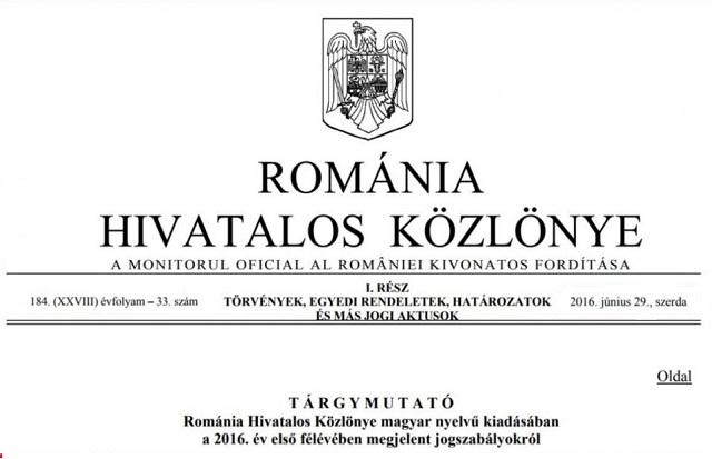 Bírósági ítélet: továbbra is megjelenhet Románia hivatalos közlönye magyarul