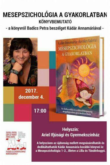 December 4-én mutatják be Marosvásárhelyen Kádár Annamária új könyvét